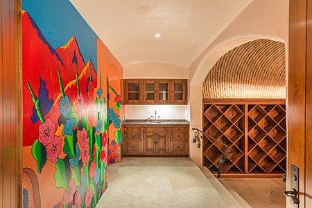 Wine Cellar Salon w/Wet Bar -  Elevator to Main Floor