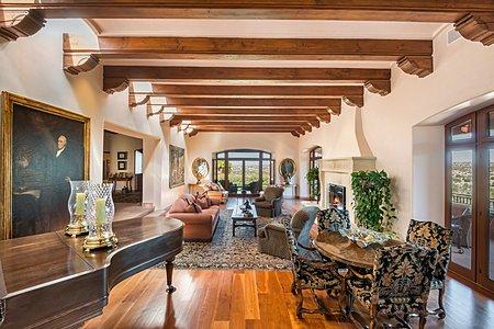 Great Room w/Fireplace - Jemez & Sangre de Cristo Views