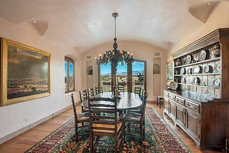 Formal Dining Room - French Doors to Balcony - Sangre de Cristo Views