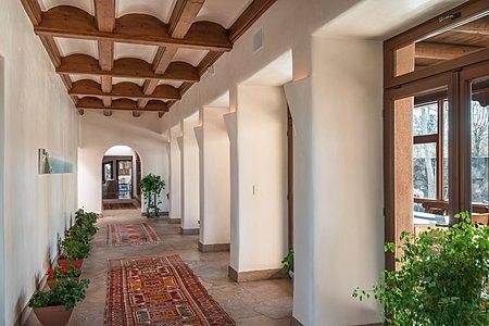 Entry Gallery Corridor - French Doors to Enclosed Portal