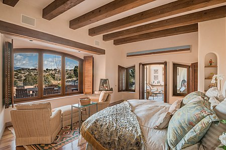 Master Wing - Bedroom Suite w/Fireplace - Sangre de Cristo Views