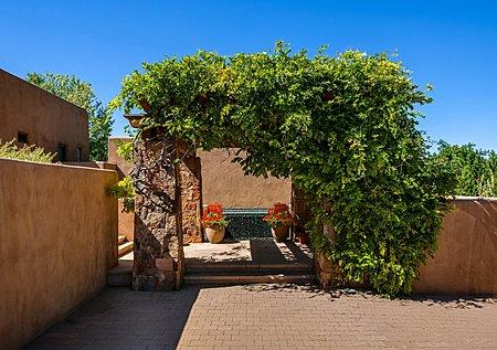 Entry to Main Residence - Pergola w/Wisteria & Cascading Reflecting Pool