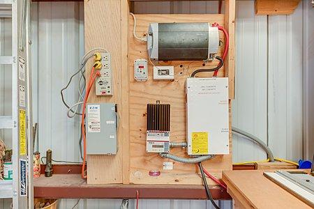 PV System in Metal Garage