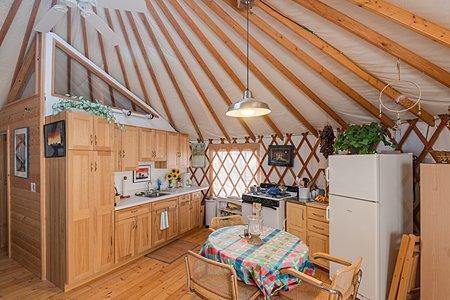 Yurt - View of Kitchen