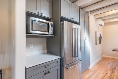 Brand new stainless appliances in Kitchen