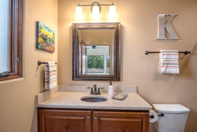 Guest Bath 1 Vanity and Mirror