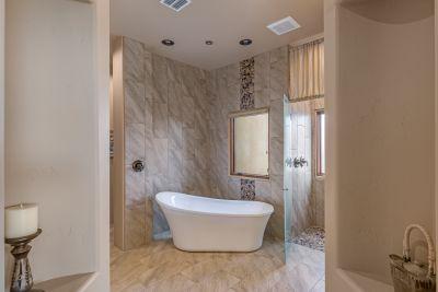 Master Bath Long View of Free-Standing Tub