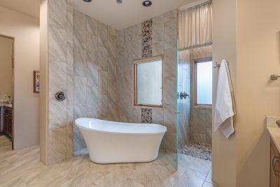 Master Bath Close View of Free Standing Tub
