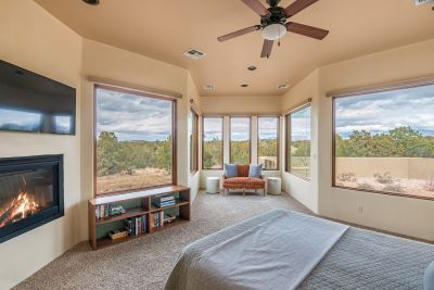 Master Bedroom with Fireplace and Sitting Area