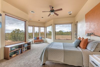 Master Bedroom with Picture Windows