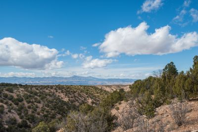 Broad Views of the Jemez Mountains from the Grounds