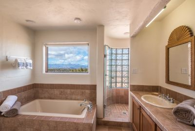 Picture Perfect Jemez Mountain Views in Owners' Bathroom
