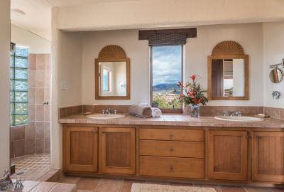 Mountain Views from the Double Vanity in Owners' Bathroom