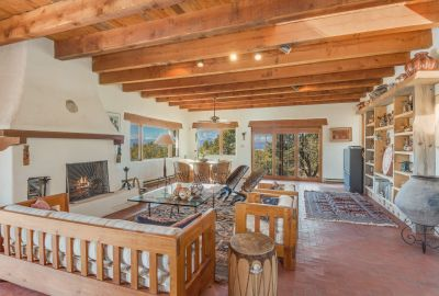 Living Room with Magnificent Views of Jemez Mountains