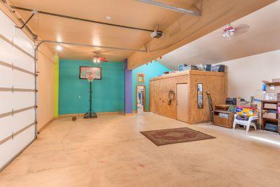 Finished Interior Garage/Flex space with storage room