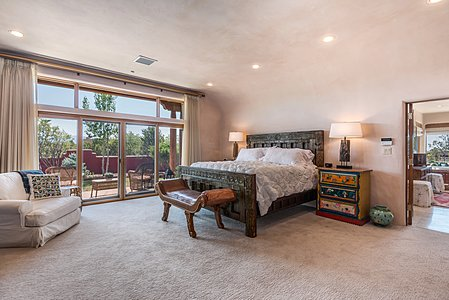 Large Owners' Bedroom has Sangre de Cristo Mountain Views...