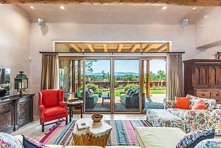 Living Room accesses the Entertainment Portal with Sangre de Cristo Views
