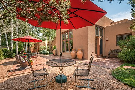 Walled Landscaped Gardens and Patios offer Excellent Spaces to Entertain