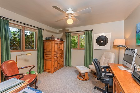 Bedroom of Guest Suite is used as an Office