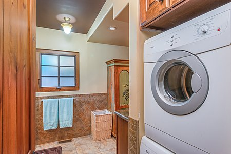 Laundry Alcove in Owner's Bathroom