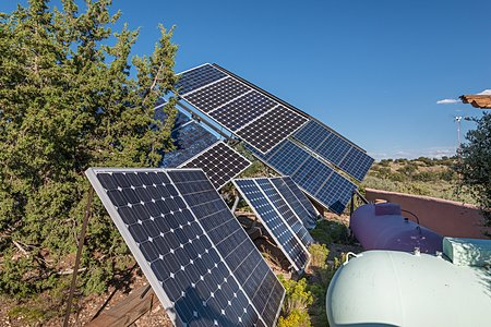 Fully Off-Grid! Photovoltaic panels & propane tanks