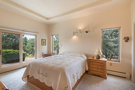 Spacious Guest Bedroom with Access to Backyard