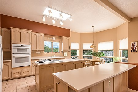 Kitchen has Lots of Natural Light