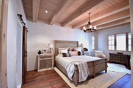 Master Guest Bedroom Two En-Suite; Rough-Sawn Beamed Ceiling - Abundance of Natural Light