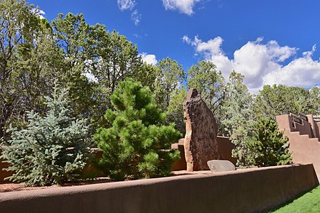 West Yard - Coyote Stone Sculpture