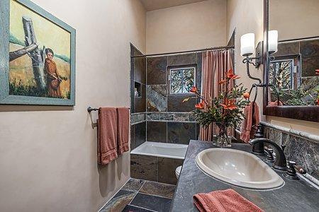 Jack-and-Jill Bathroom serves both Guest Bedrooms
