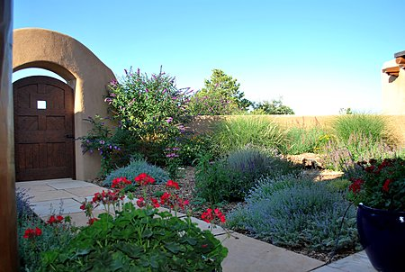 Beautiful Landscaping in Entry Courtyard