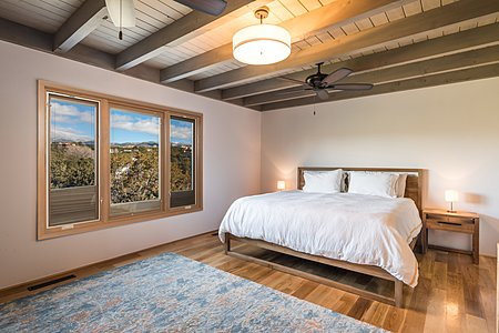 Great views from the spacious master bedroom!