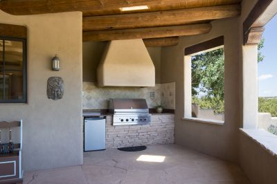Built-In BBQ off the Kitchen