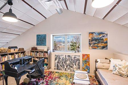 Mezzanine Office has Sangre de Cristo Mountain Views