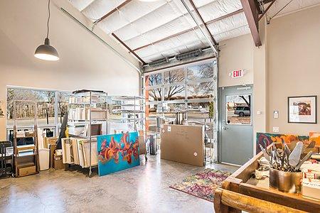Metal and Glass Garage Door