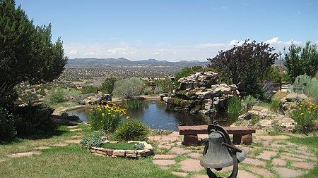 KOI pond at the main home