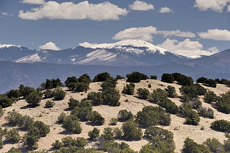 Santa Fe Baldy in the Sangres, over 12,000 feet in the sky