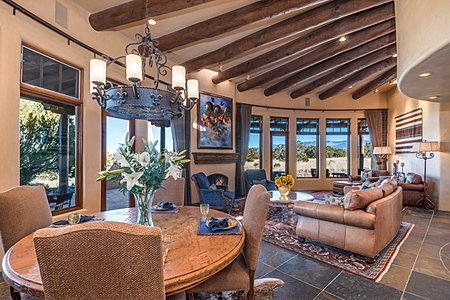 Great Room with East-to-West Mountain Views