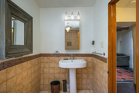 Full Bathroom of Adobe home.