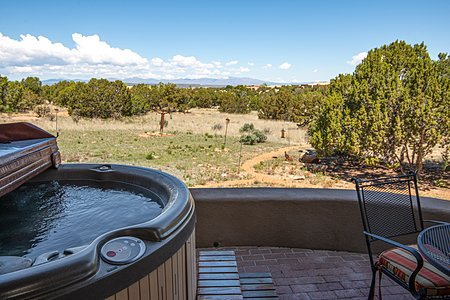 Master Bedroom - West Portal with Hot Tub & Jemez Views