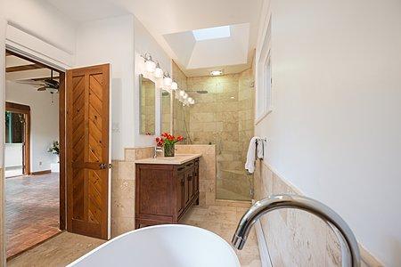 Bathroom in Owner's Suite looking towards Bedroom