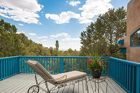 Private Deck off Owners' Suite with Mountain Views