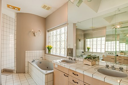 Owners' Bath with Separate Tub and Snail Shower