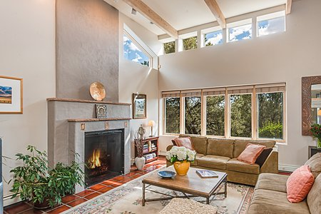 Lving Area with Clerestory Windows