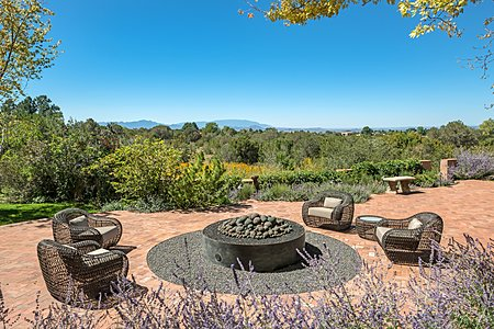 Grand Patio with Fire Pit and Mountain Views