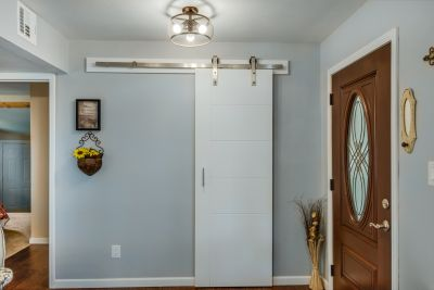 Front Door and Coat Closet