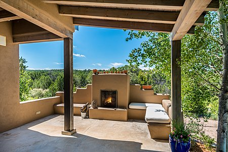 Outdoor Fireplace on Rear Patio