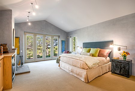 Master Bedroom with French Doors to Rear Patio