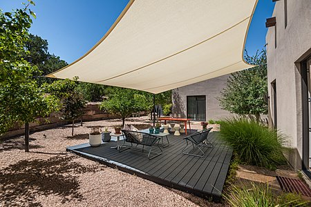 Dining Deck with Sun Sail