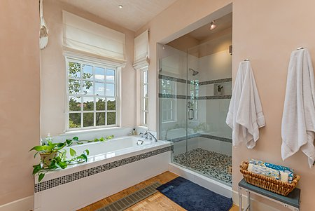 Owner's En Suite Bath with Separate Tub and Shower